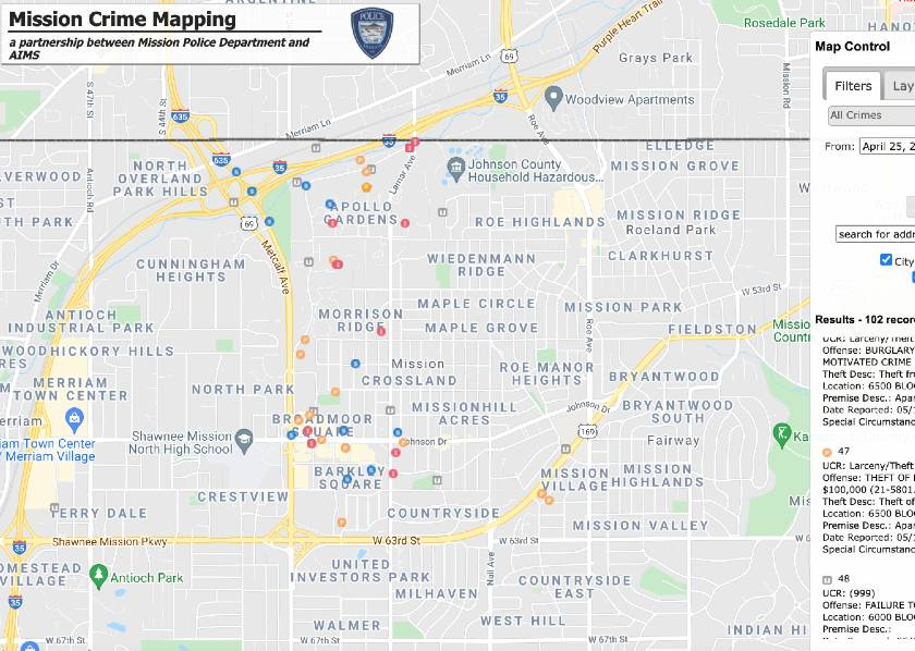 Crime Map Screen Shot
