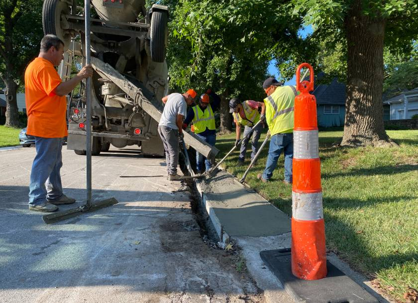 Curb Work on Dearborn St.