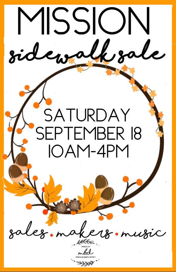 Fall Sidewalk Sale Poster